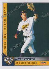 2016 Burlington Bees Jared Foster RC Rookie Angels Minor