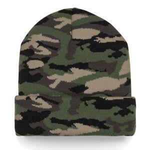 Camo Beanie Hat Cuffed Beanie Camouflage Army Military Jungle Arctic Night DPM