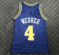 Vintage Authentic Champion Chris Webber Golden State Warriors Jersey Size 36
