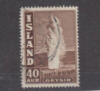 Iceland 1938 40 Aur Geysir SG327 MH JK1853