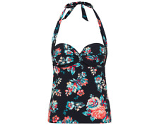 c57ccced2d George Navy Floral Print Tankini Top & Bikini Bottoms Size UK20/EUR48 BNWT