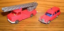 Wiking 2 Stück Mercedes-Benz 1:87 H0 Mercedes 200 rot + Opel Feuerwehrwagen