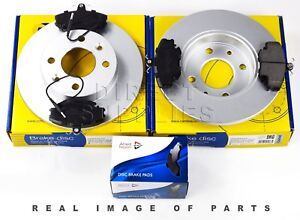 FRONT AXLE BRAKE SET DISCS AND PADS FOR RENAULT DACIA COMLINE ADB1431 ADC1503