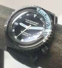 New Cavenago Don Giovanni Black PVD 1000m Diver Swiss ETA Auto 46mm Sapphire