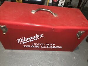 Milwaukee Electric HEAVY DUTY Drain Cleaner 0566-1 W/Case