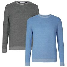 New M&S Mens Jumper Textured Marks & Spencer Crew Neck Cotton Sweater Pullover