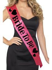 Hen Party Bride to Be Sash in Hot Pink & Black Smiffys Hen Party Fun