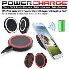 PowerCharge Qi Wireless Charger Mini Charge Pad-Samsung Galaxy S3,4,5,7,6 Edge+
