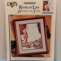 River Of Life 1 Counted Cross Stitch Patterns Crafts Vintage