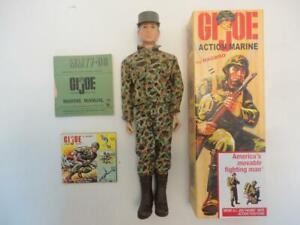 "Vintage 12"" GI JOE 1960s Action Marine in Custom Box (a)"