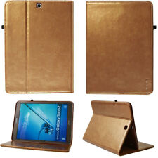 """Leather Cover for Samsung Tab E 9,6"""" Case Pouch Tablet Smart Case gold"""