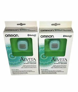 2x Omron Alvita Wireless Activity Bluetooth Tracker
