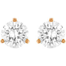 Swarovski 5112156 SOLITAIRE PIERCED EARRINGS, WHITE, ROSE-GOLD TONE, AUTHENTIC
