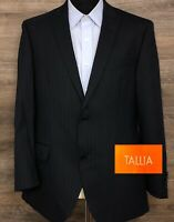 TALLIA Men's Navy Blue Pinstripe Wool Two-Button Blazer Sport Coat Jacket 40R