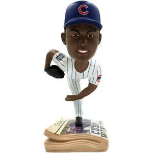 Aroldis Chapman Chicago Cubs 2016 World Series Newspaper Base Bobblehead MLB