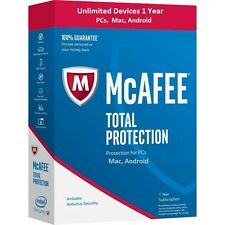 McAfee Total Protection 2017- Unlimited Devices- 1 Year digital delivery only