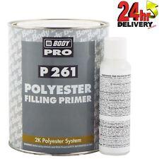 HB Body 1 Litre 2K Polyester Filling Primer&50ml Polyester Hardener 100:5 Ratio