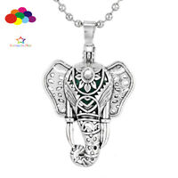Aroma Diffuser Elephant Necklace Lockets Perfume Essential Oil Aromatherapy
