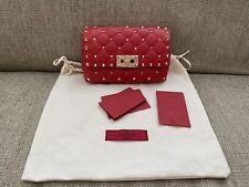 VALENTINO GARAVANI Rockstud Spike Red Belt Bag 85cm RRP £840