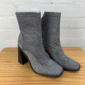 River Island Glitter Sock Boots UK5 RRP£48