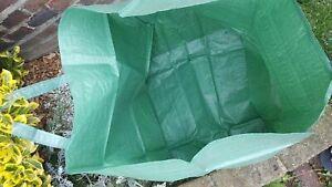 Round Garden Waste Bag Rubbish Sack with Handles Waterproof Heavy Duty 30L