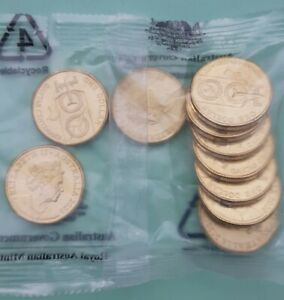 2020 $1 100 Years of QANTAS RAM Mint Bag 10x UNC Dollar Coins JC effigy.