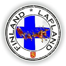 Seal Sticker of Finland Lapland Stamp Bumper Roundel Truck Laptop Car