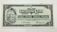 1974 Canadian Tire 5 Five Cents CTC-S4-B-QN Circulated Money Banknote E134