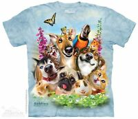 Pet Selfie Kids T-Shirt by The Mountain. Pet Animals Dog Cat Rabbit Youth NEW