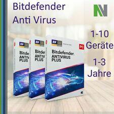 Bitdefender Antivirus Plus 2021 1 3 5 10 PC 1 2 3 JAHRE