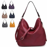Ladies Faux Leather Tasselled Slouch Shoulder Bag Evening Handbag Tote MA34949