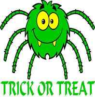 30 Custom Green Trick Or Treat Spider Personalized Address Labels