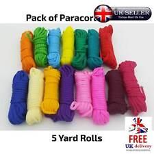 Paracord Multi-Colored Parachute Cord Pack 15 Color Bracelets Survival Camping