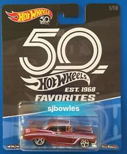 2018 Hot Wheels 50th FAVORITES 1956 CHEVROLET BEL AIR V8 COUPE - mint on card!