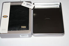 Fossil Mens Omega Slim Travel Wallet Black Genuine Leather- New