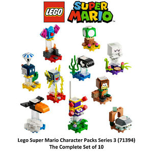 Lego Super Mario Character Packs Series 3 Complete Set of 10 - 71394 Minifigures