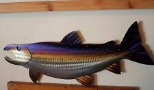 Metal Salmon,Fish,Fly,Fishing,Cabin.Lodge,Art,Wall,Home decor,Wildlife