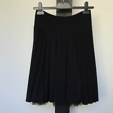 'PORTMANS' EC SIZE 'XS' BLACK LINED PULL ON SKIRT, SOFT PLEATS & NET UNDERLAYER
