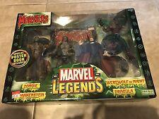Marvel Legends Monsters Set Werewolf Dracula Zombie Frankenstein 4 Figures NEW