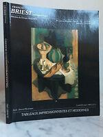 Catálogo De Venta Francis Briest Pizarras Impresionistas Modernos 26 mars1990