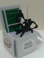Rugby themed pop up card