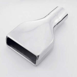 """2.5"""" 64mm Inlet Stainless Steel Exhaust Tip Muffler Rolled Rectangle Out 10"""" L"""
