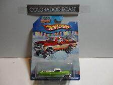 Hot Wheels Holiday Rods Green Custom '53 Cadillac w/Real Riders