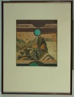 Alfred Pohl: Mittag, Farbradierung, signiert, datiert 1982