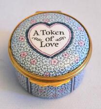 Halcyon Days Enamels English Tiffany & Co. A Token of Love Trinket Box