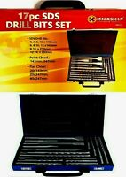 SDS Drill And Chisel Set in a Steal Storage Case - 17 Piece Set