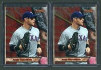 2011 Bowman Bowman's Best #BB9 Josh Hamilton 2 CARD LOT!!!! MINT!!!!!