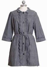 DEAR CREATURES - Blossom Dress in Navy Chambray S Vintage Retro Modcloth