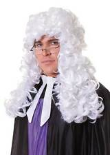 Judge Wig,Courtroom,Barrister, White, Fancy Dress Party Wig, Halloween #AU