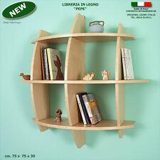 Libreria PEPE in legno acero mensola scaffale a muro parete per ufficio studio